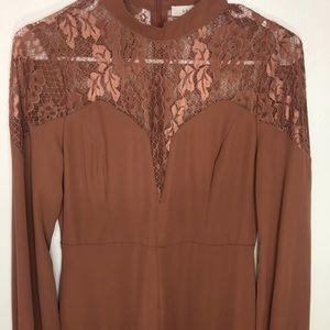 Lush Shorts - Lush Long Sleeve Lace Shoulder Romper Size S